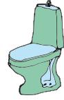 Toalettstol, handfat och badkar